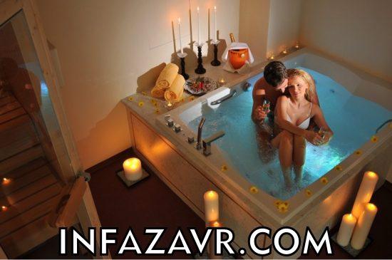 романтичный ужин в ванной